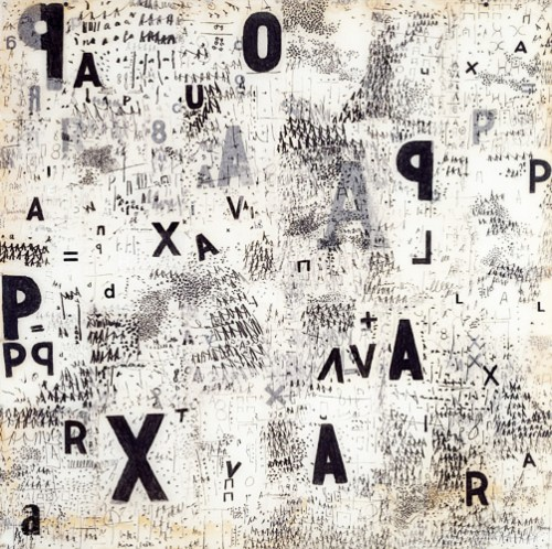Mira Schendel :: untitled, from the series Graphic Objects :: 1967